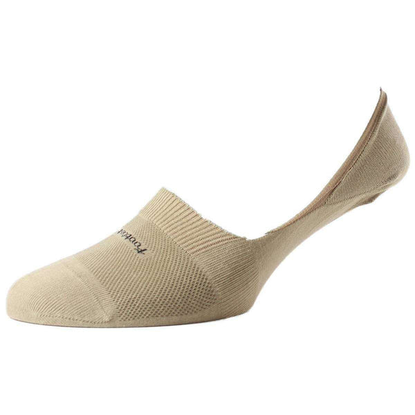 Pantherella Khaki Footlet Egyptian Cotton Shoe Liner