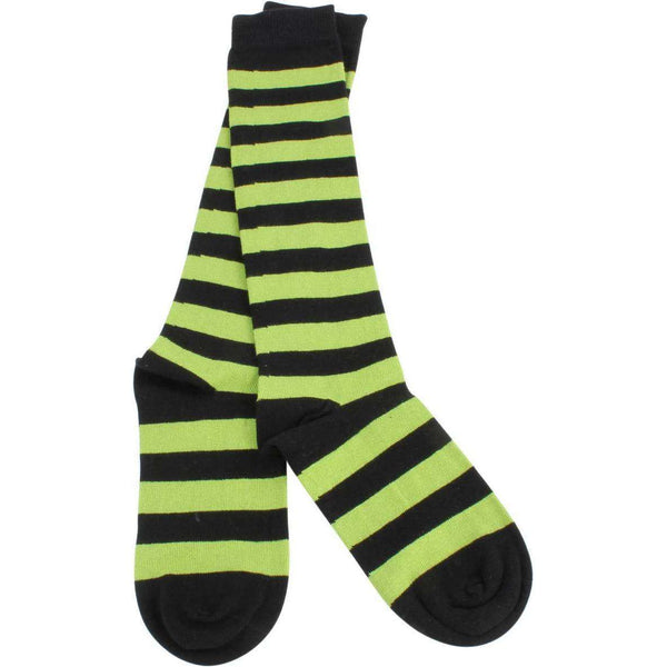 MySocks Green Striped Knee High Socks