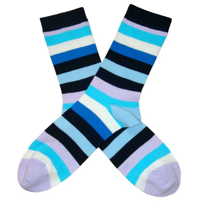 Bassin and Brown Blue Multi Stripe Socks
