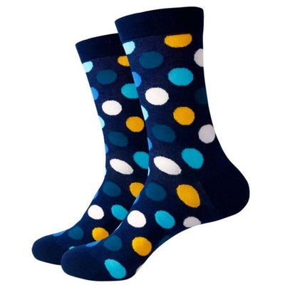 Bassin and Brown Navy Multi Spot Socks