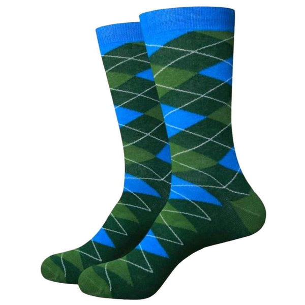 Bassin and Brown Green Argyle Socks