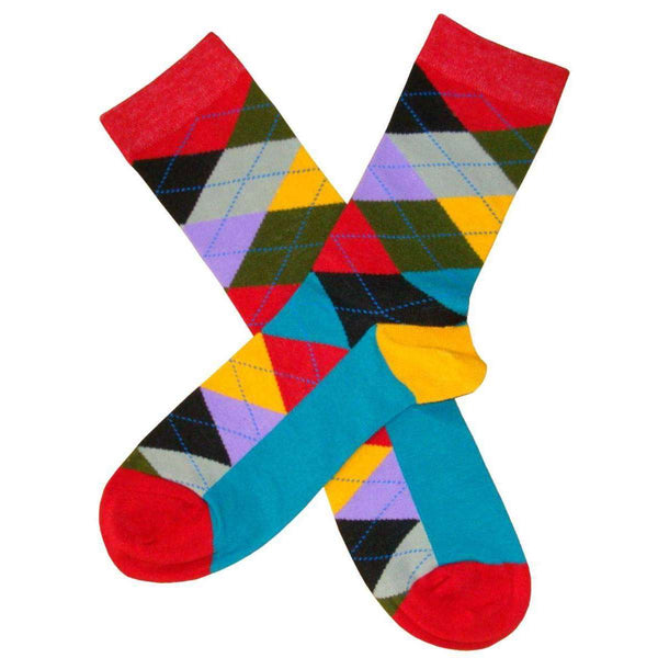Bassin and Brown Multi-colour Argyle Socks