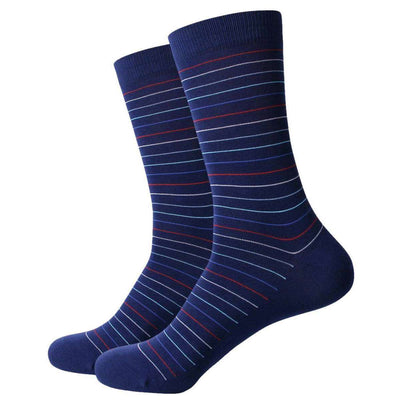 Bassin and Brown Navy Horizontal Thin Stripe Socks