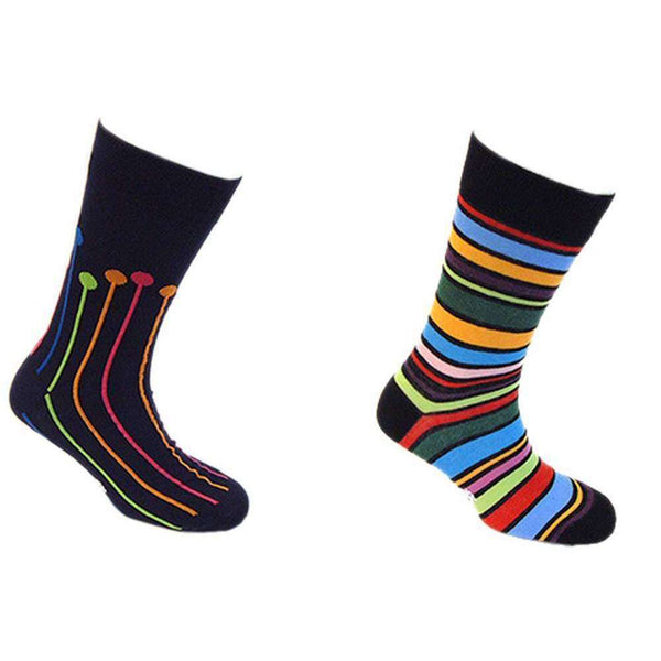 Tyler and Tyler Navy Dropspot and Spectrum Stripy Sock Set
