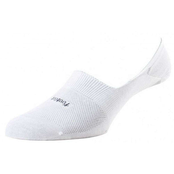 Pantherella White Footlet Egyptian Cotton Shoe Liner
