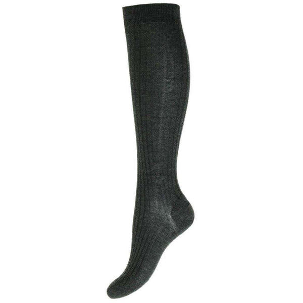 Pantherella Grey Rose Merino Wool Knee High Socks
