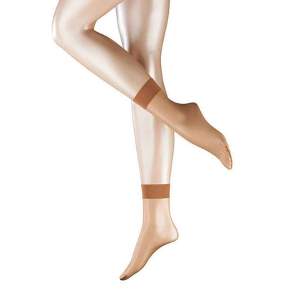 Falke Beige Sheila 12 Denier Ultra-Transparent Sensitive Top Anklet Tights