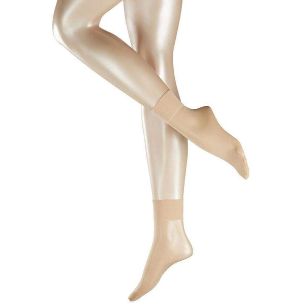 Falke Beige Pure Matte 20 Denier Transparent Matte Anklet Tights