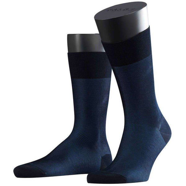 Falke Navy Fine Shadow Socks