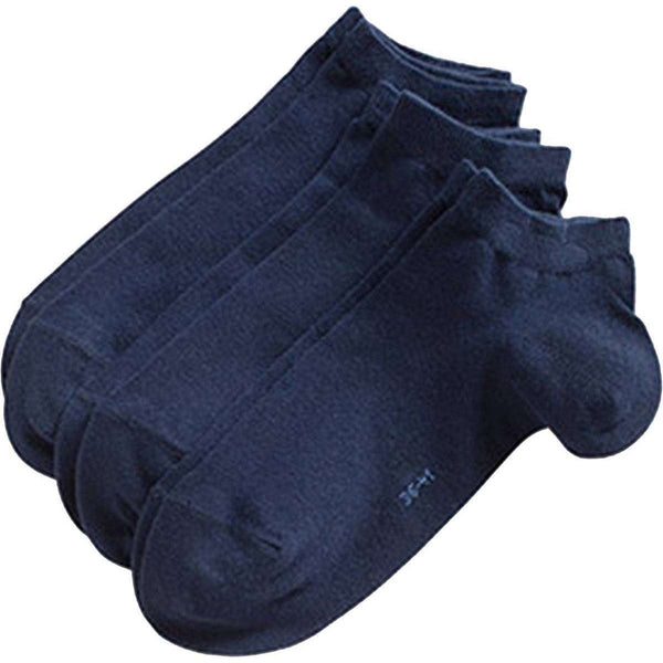 Esprit Navy Solid Block Colour Sneaker 3 Pack Socks