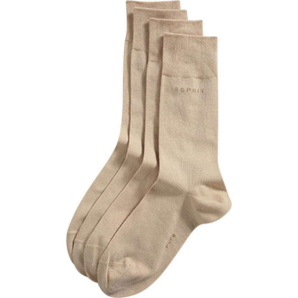 Esprit Cream Basic 2 Pack Socks