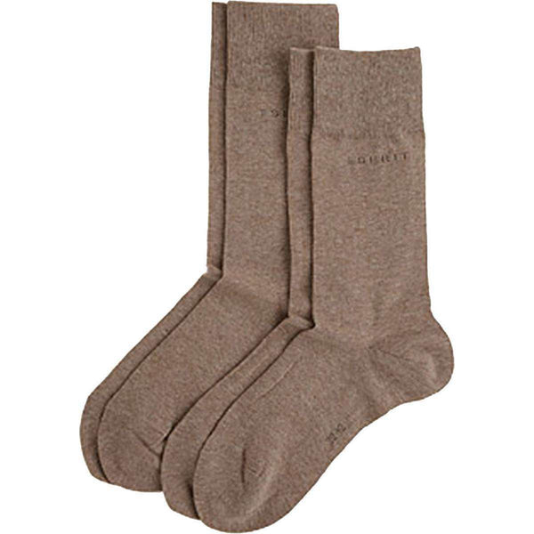 Esprit Brown Basic 2 Pack Socks