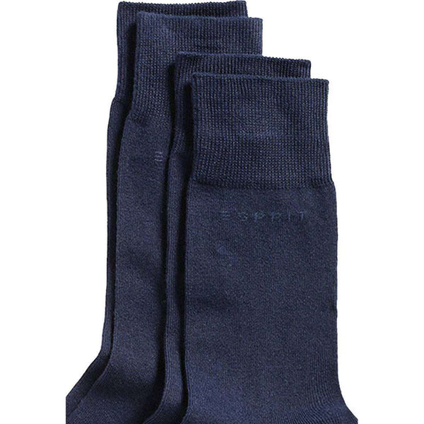 Esprit Navy Basic 2 Pack Socks