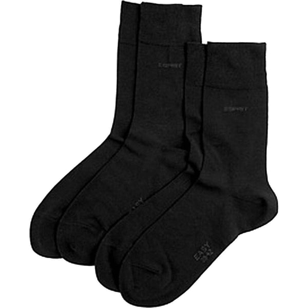 Esprit Black Basic Soft Cuff 2 Pack Socks