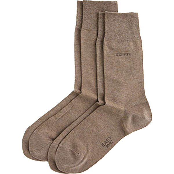 Esprit Brown Basic Soft Cuff 2 Pack Socks