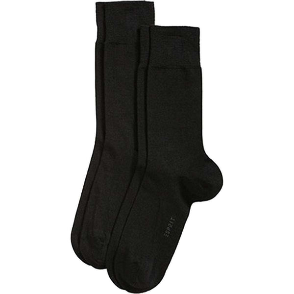 Esprit Black Basic Elegant Wool 2 Pack Socks