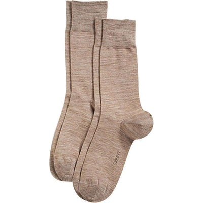 Esprit Brown Basic Elegant Wool 2 Pack Socks