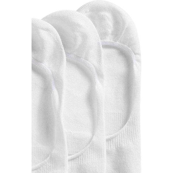 Esprit White Basic Sporty Ankle Non-slip 2 Pack Shoe Liners