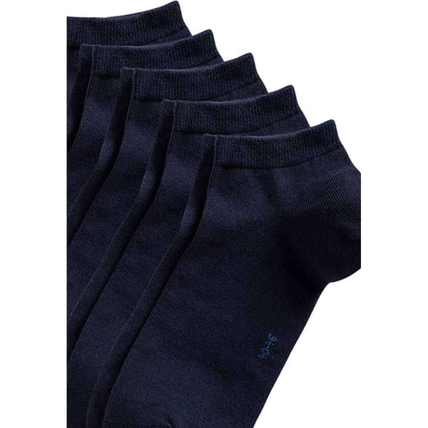 Esprit Navy Block Coloured Sneaker 5 Pack Socks