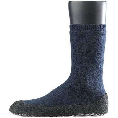 Falke Blue Cosyshoe Midcalf Socks