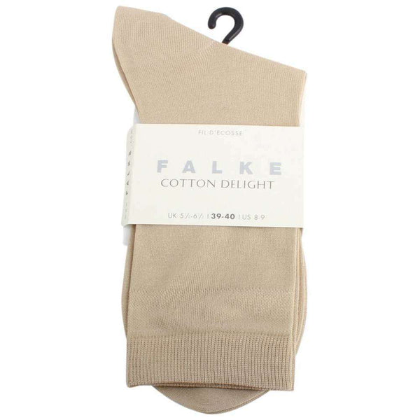 Falke Beige Cotton Delight Socks