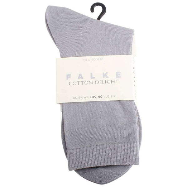 Falke Grey Cotton Delight Socks