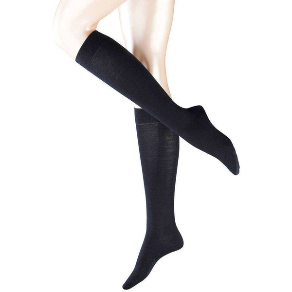 Falke Navy Softmerino Knee High Socks