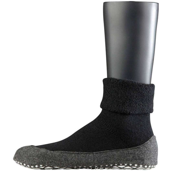 Falke Black Cosyshoe Midcalf Socks