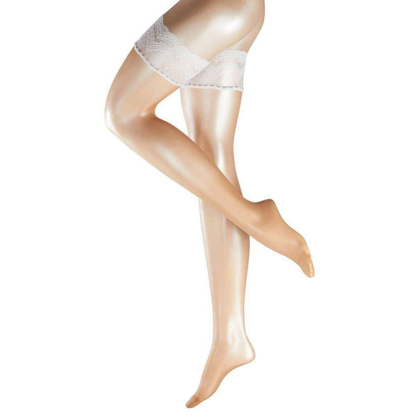 Falke Beige Deluxe Matte 8 Denier Stay Up Stockings