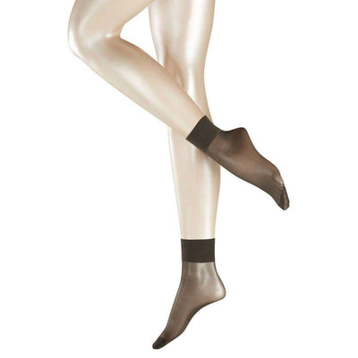 Falke Grey Pure Matte Transparent 20 Denier Anklet Tights