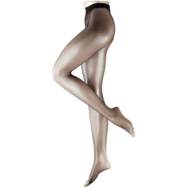 Falke Black Netted Woollen Tights