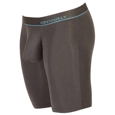 Obviously Grey PrimeMan AnatoMAX Boxer Brief 9inch Leg