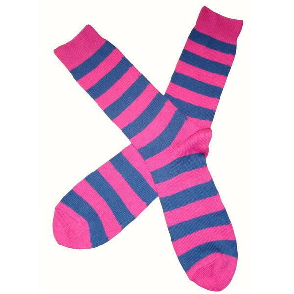 Bassin and Brown Pink Striped Midcalf Socks