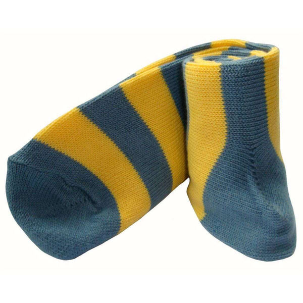 Bassin and Brown Grey Striped Midcalf Socks