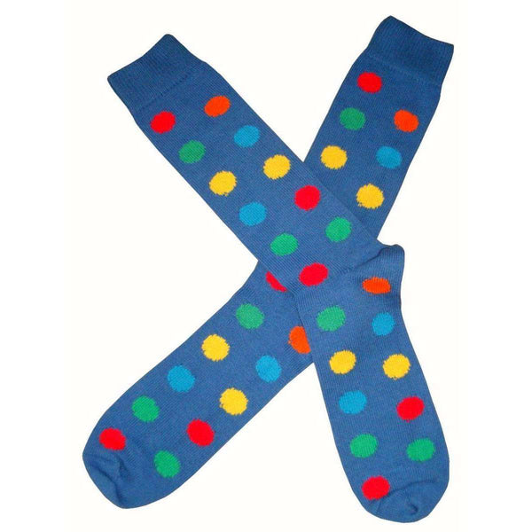 Bassin and Brown Blue Spotted Midcalf Socks