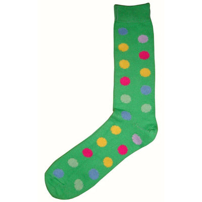Bassin and Brown Green Spotted Midcalf Socks