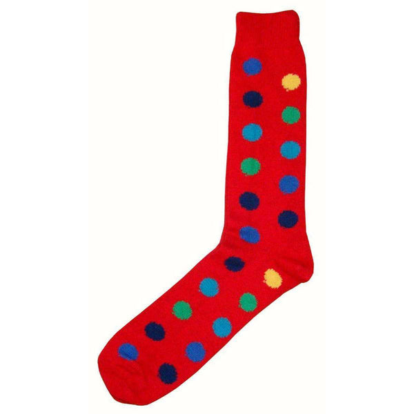 Bassin and Brown Red Spotted Midcalf Socks