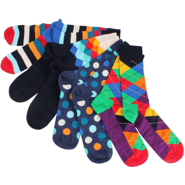 Happy Socks Multi-colour Mixed Pattern 4 Pack Gift Box Socks