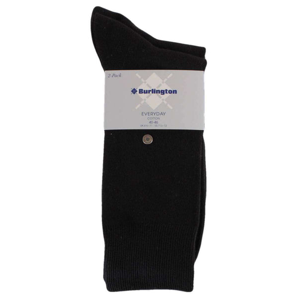 Burlington Black Everyday Combed Cotton 2 Pack Socks