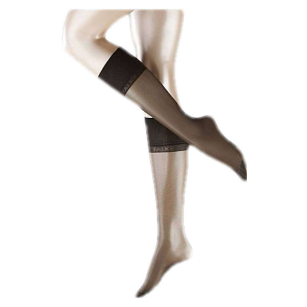 Falke Grey Pure Matte Transparent 20 Denier Knee High Tights
