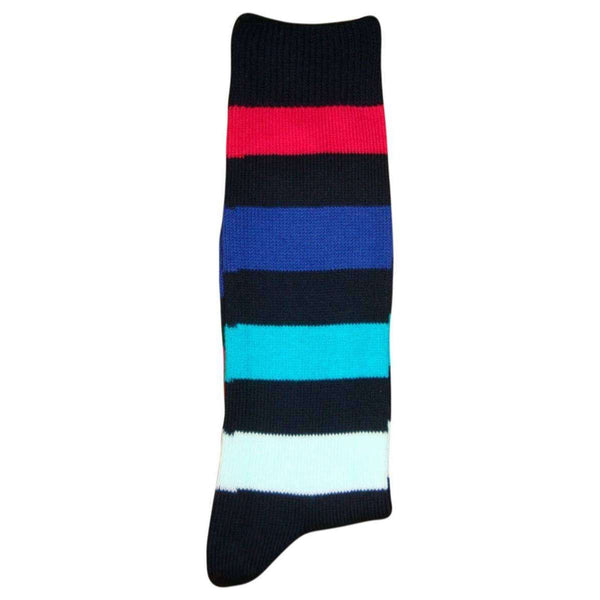 Bassin and Brown Black Multi Stripe Socks
