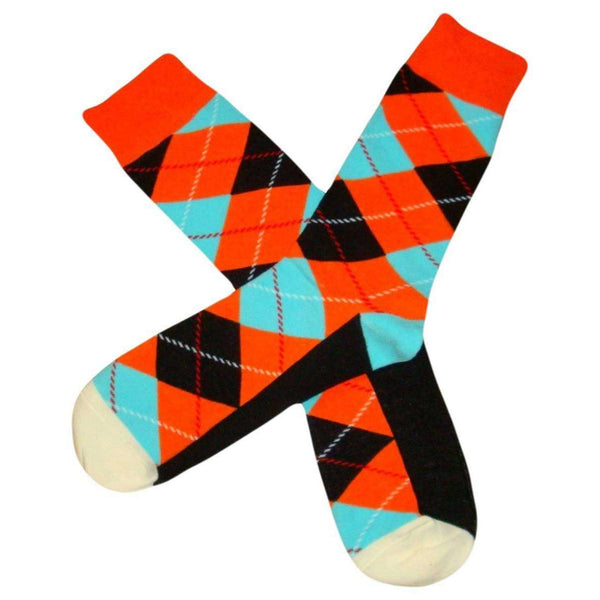 Bassin and Brown Orange Argyle Socks