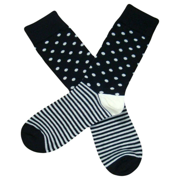 Bassin and Brown Black Contrast Heel and Toe Striped Socks