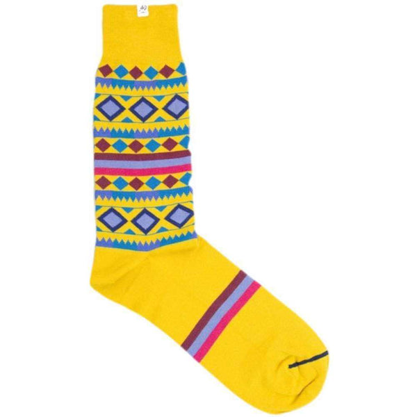 40 Colori Gold Shapes and Stripes Organic Cotton Socks