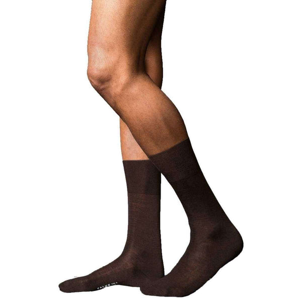 Falke Brown No6 Finest Merino and Silk Socks