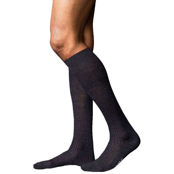 Falke Grey No7 Finest Merino Knee High Socks