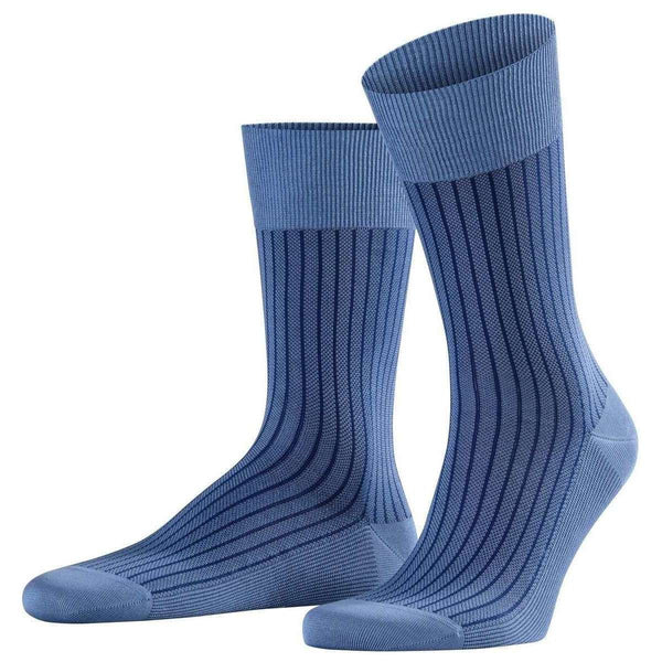 Falke Blue Oxford Stripe Socks