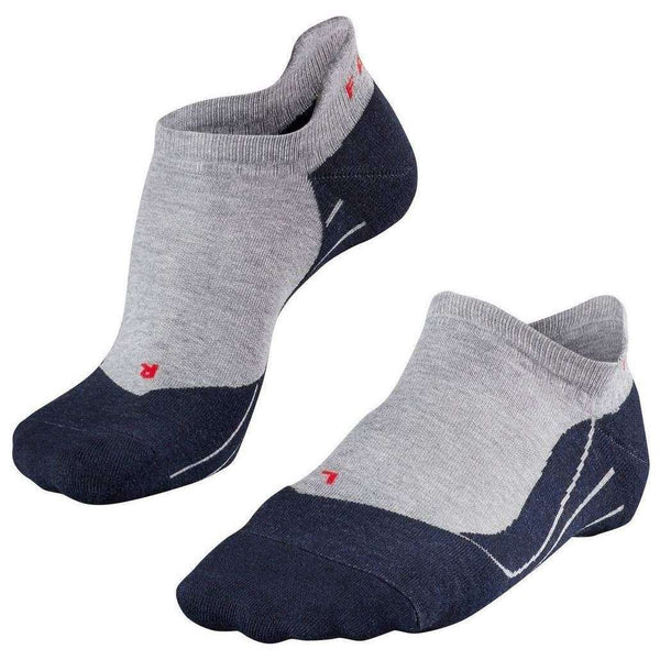 Falke Grey Running 4 Medium Invisible No Show Socks