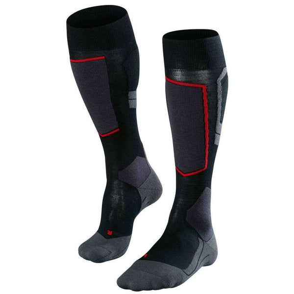 Falke Black Skiing 4 Light Wool Knee High Socks