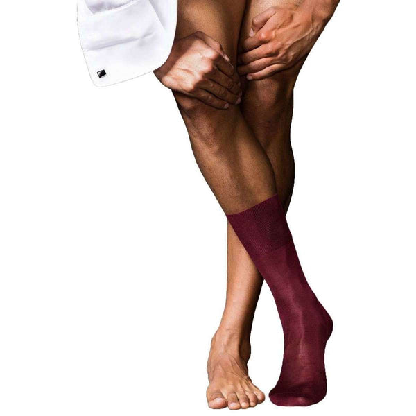 Falke Red No4 Pure Silk Midcalf Socks